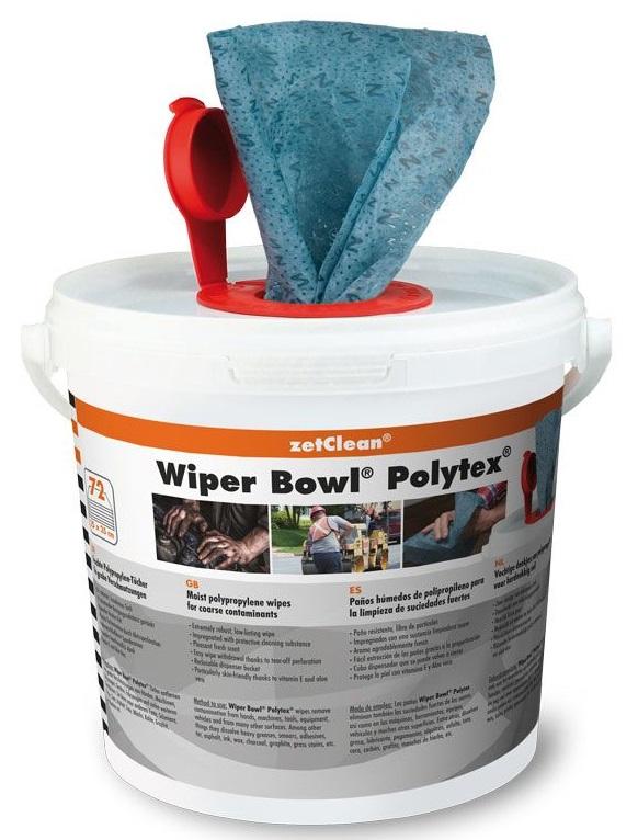UNIVERSAL-Wiper Bowl® Polytex® im Spendereimer, 72 feuchte Reinigungstücher, VE = 1 Eimer