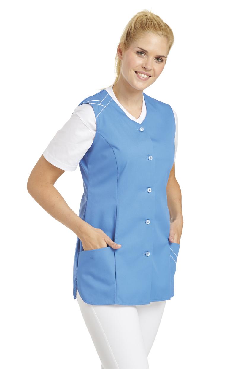 LEIBER-Jobwear, Hosenkasack, Arbeits-Berufs-Kasack, ohne Arm, caribic