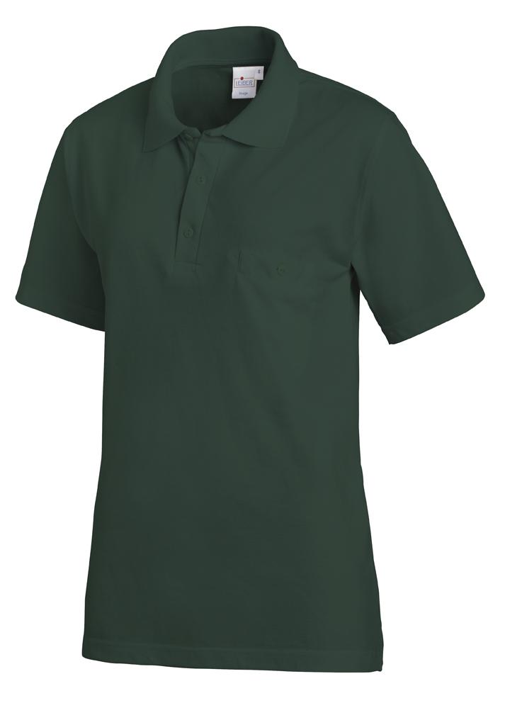 LEIBER-Jobwear, Poloshirt, Arbeits-Shirt, 1/2 Arm, bottle green