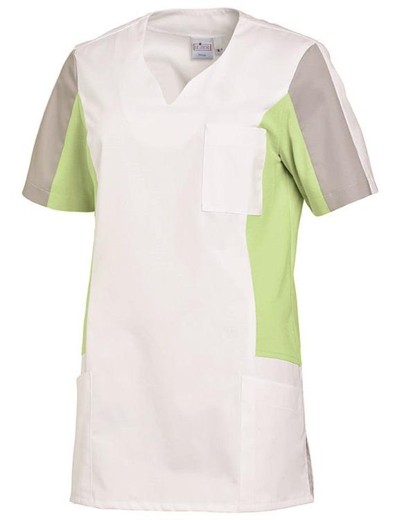 LEIBER-Jobwear, Damen-Schlupfjacke, Arbeits-Berufs-Jacke, ca. 220g/m², weiß/hellgrün