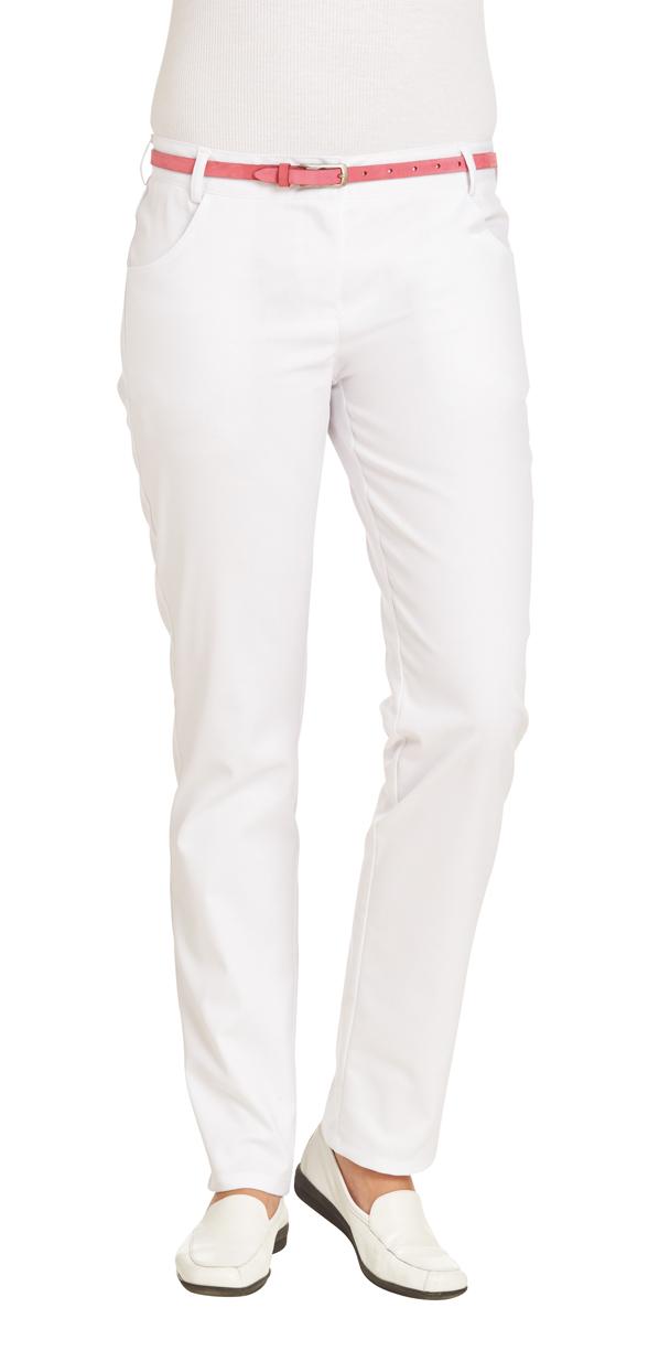 LEIBER-Jobwear, Damen-Arbeits-Berufs-Hose, Bundhose, Länge ca. 80 cm, ca. 225 g/m², weiss