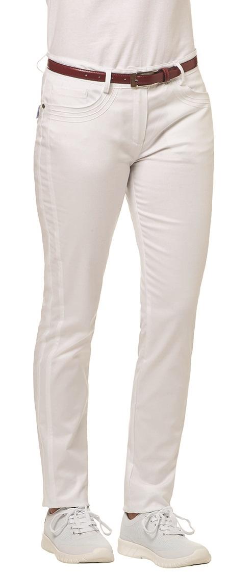 LEIBER-Jobwear, Damen-Arbeits-Berufs-Hose, Bundhose, 220 g/m², weiß