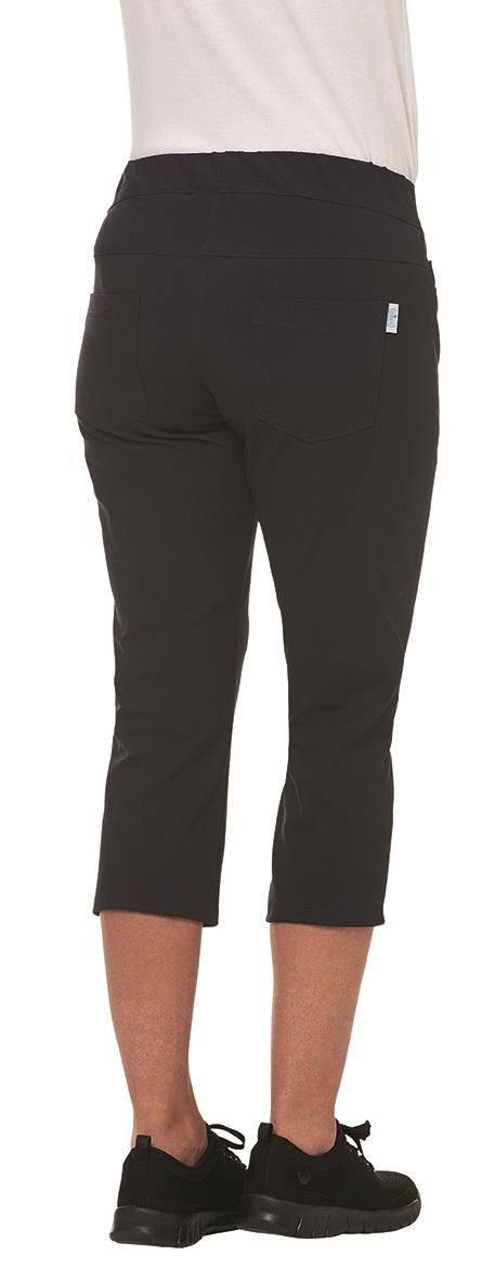 LEIBER-Jobwear, Damen-Arbeits-Berufs-Hose, Bundhose, 3/4 Damenhose, 270 g/m², schwarz