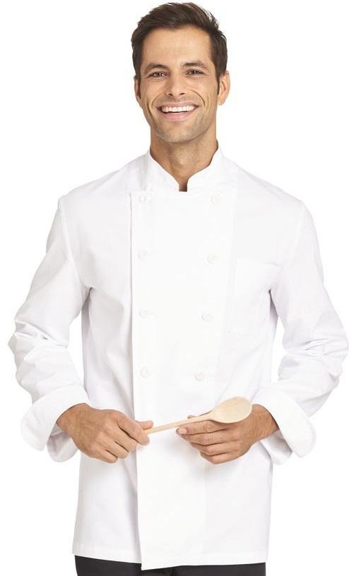 LEIBER-Jobwear, Kochjacke für Damen und Herren, Gr. 44-60, weiß