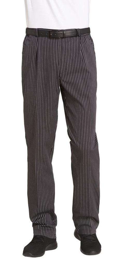 LEIBER-Jobwear, Kochhose, Servicehose, schwarz/weiß