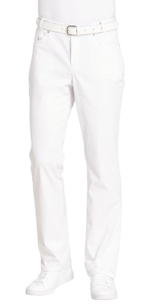 LEIBER-Jobwear, Herren-Arbeits-Berufs-Jeans, Jeanshose, weiß,