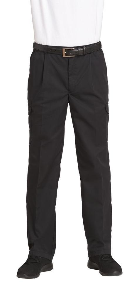LEIBER-Jobwear, Herren-Arbeits-Berufs-Hose, Cargohose, schwarz, Gr. 90-110