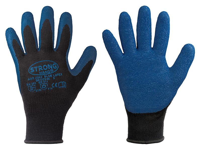 FELDTMANN Nitril/Nitrilschaum-Arbeits-Handschuhe Tura, blau, VE = 12 Paar
