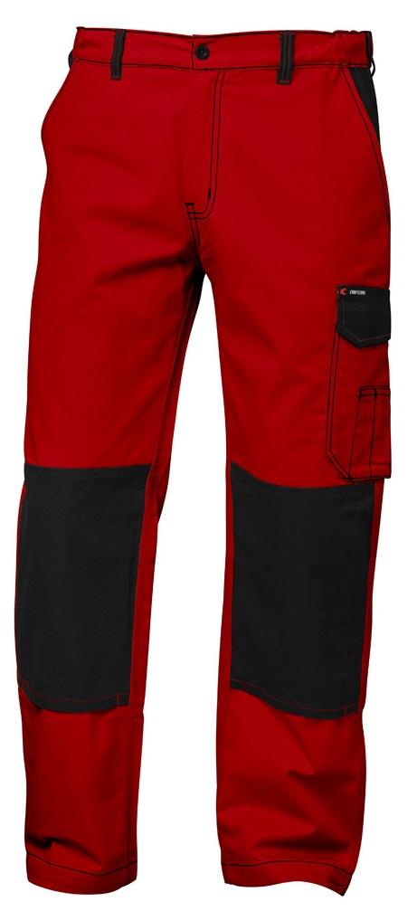 F-CRAFTLAND-Workwear, Bundhose, Twill *GENT*, rot/schwarz