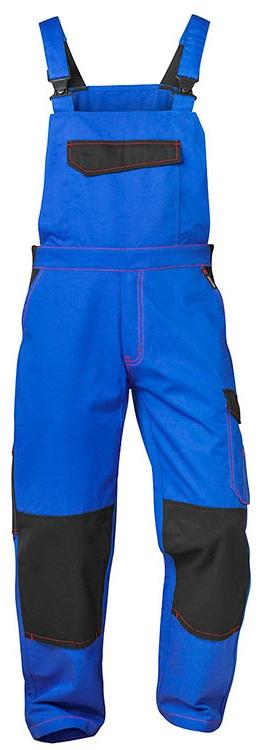 F-CRAFTLAND-Workwear, Latzhose, Twill *ANDERLECHT*, kornblau/schwarz
