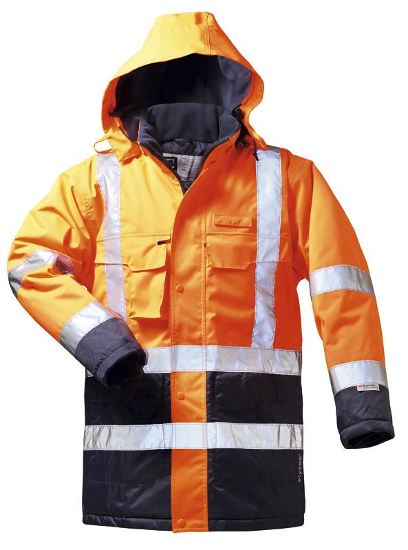 F-ELYSEE-Warnschutz, Warn-Schutz-Parka LUIS orange/marine