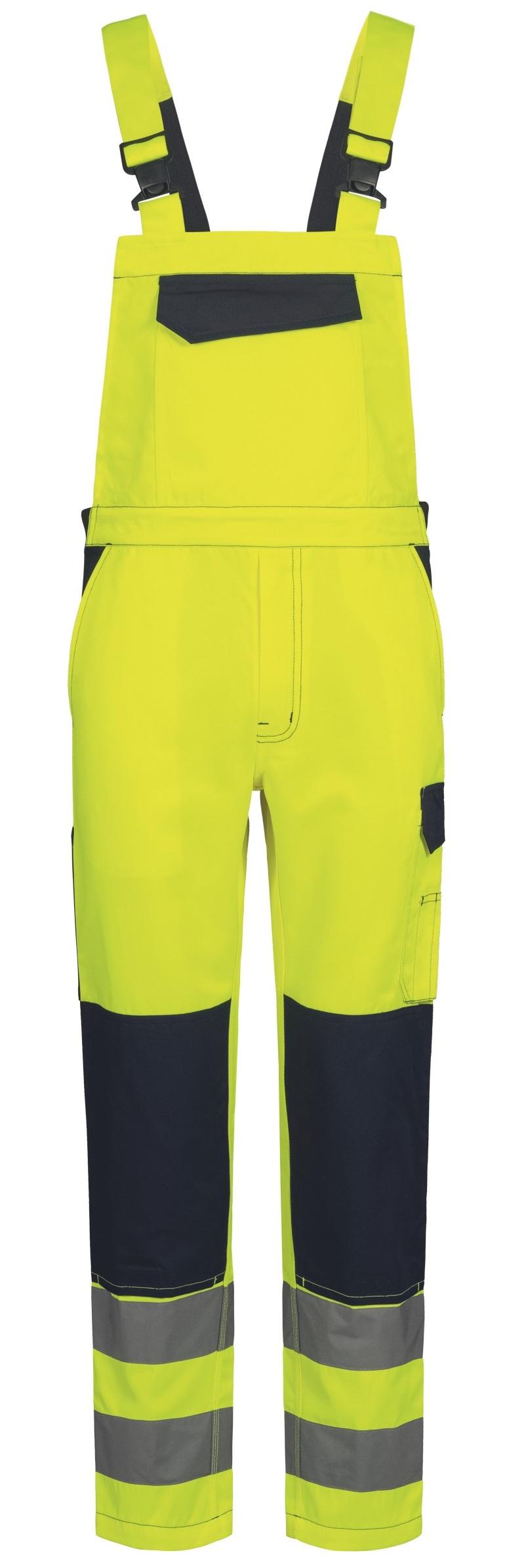 F-Warnschutz-Latzhose, *BORNA*, gelb/marine