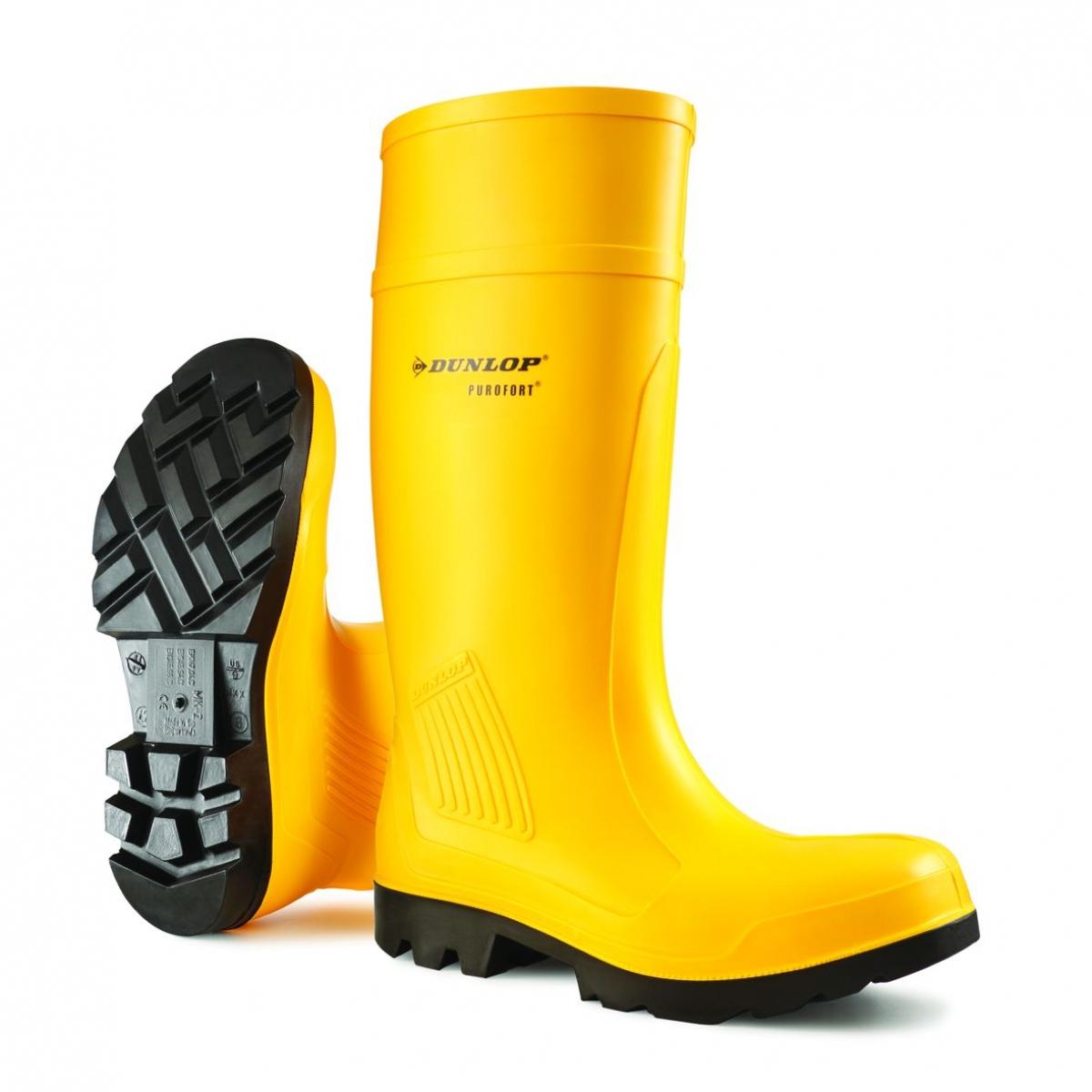 F-S5-PU-Sicherheitsstiefel, Purofort, *RAALTE*, gelb/schwarz
