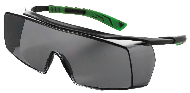 F-Überbrille, *5X7 RAUCH* für Korrektionsbrillenträger, schwarz/grün