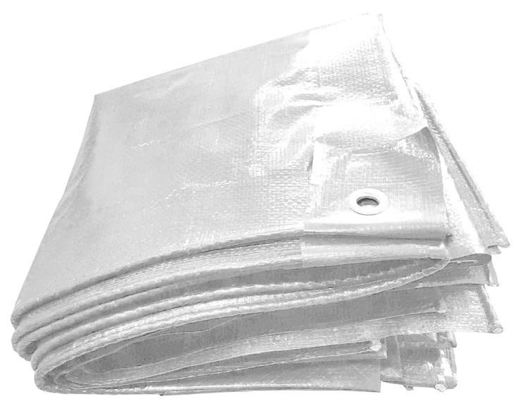 F-PE-Gewebeplane, mit Aluminium Ösen, 250g/m², weiß