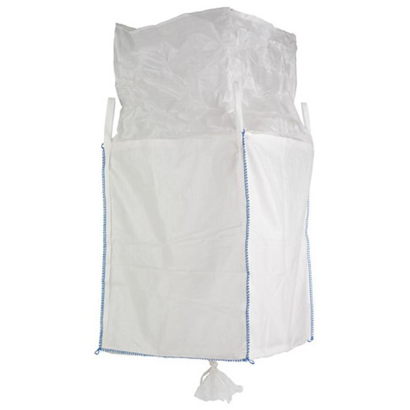 F-Big-Bag, unbeschichtet, mit Schürze und Auslaufstutzen, TRAGKRAFT: 1.000 KG