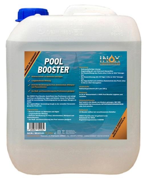 INOX-Booster, Reiniger für Pool, Schwimmbad, Whirlpool, Planschbecken, 5L-Kanister