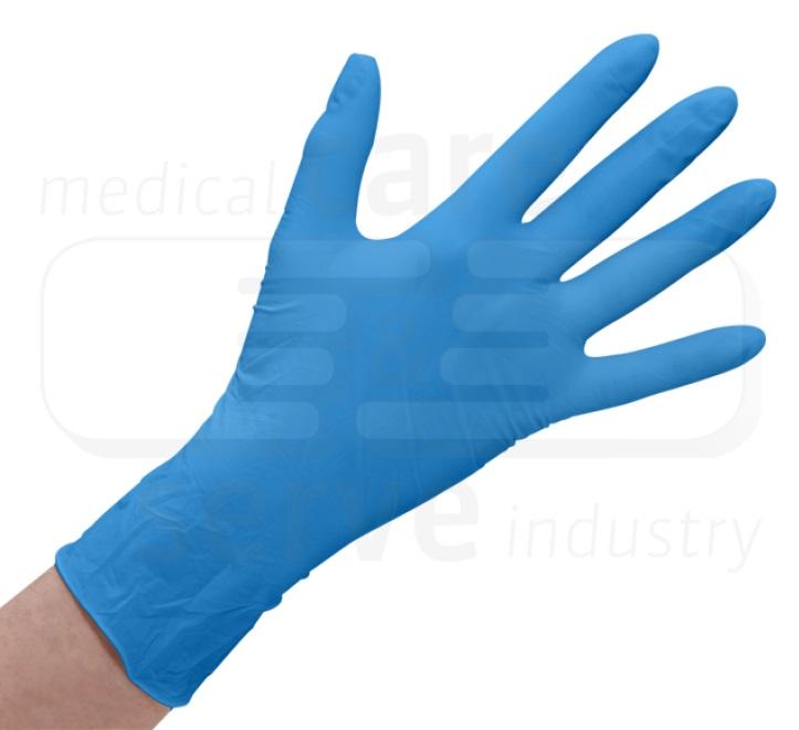 UNIVERSAL-Einweg-Latex Handschuhe, gepudert, glatt, Spenderbox, Pkg á 100 Stück, VE =  1 Pkg, blau