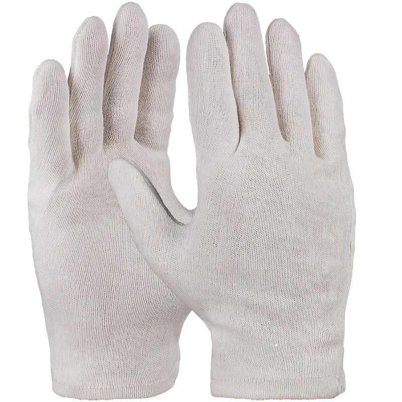 UNIVERSAL-Baumwoll-Trikot-Handschuh, natur, schwere Qualität, gesäumt VE = 12 Paar