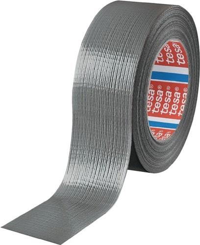 TESA-Gewebeband Univ.duct tape 4613 mattsilber L.50m B.48mm Rl.