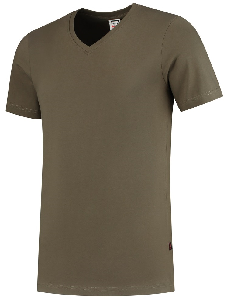 TRICORP-T-Shirts, V-Ausschnitt, Slim Fit, 160 g/m², army