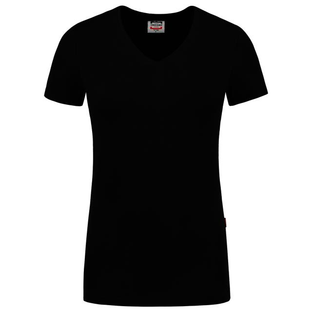 TRICORP-Damen-T-Shirts, V-Ausschnitt, 190 g/m², black