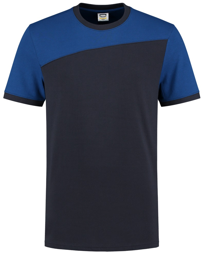 TRICORP-T-Shirt, Basic Fit, Bicolor, Kurzarm, 190 g/m², navy-royalblue