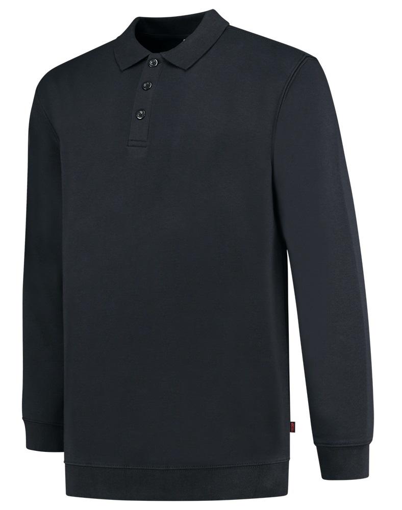 TRICORP-Sweatshirt mit Polokragen, Basic Fit, 280 g/m², navy