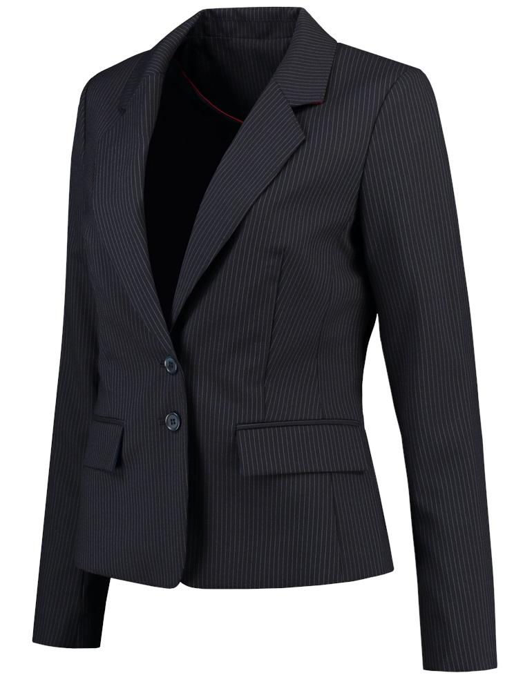 TRICORP-Blazer Damen, Basic Fit, 180 g/m², navy-stripe