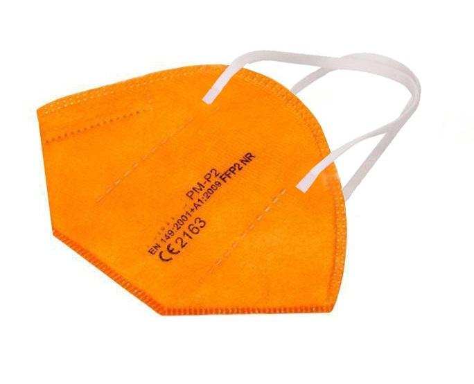 Atemschutz Mundschutz FFP 2 Maske, orange, VE = 5 Stück