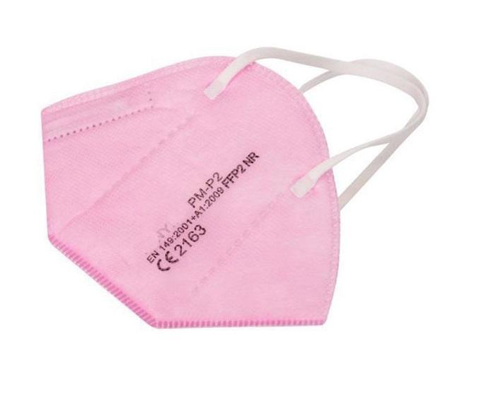 Atemschutz Mundschutz FFP 2 Maske, rosa, VE = 5 Stück