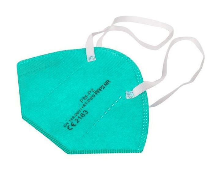 Atemschutz Mundschutz FFP 2 Maske, türkis, VE = 5 Stück
