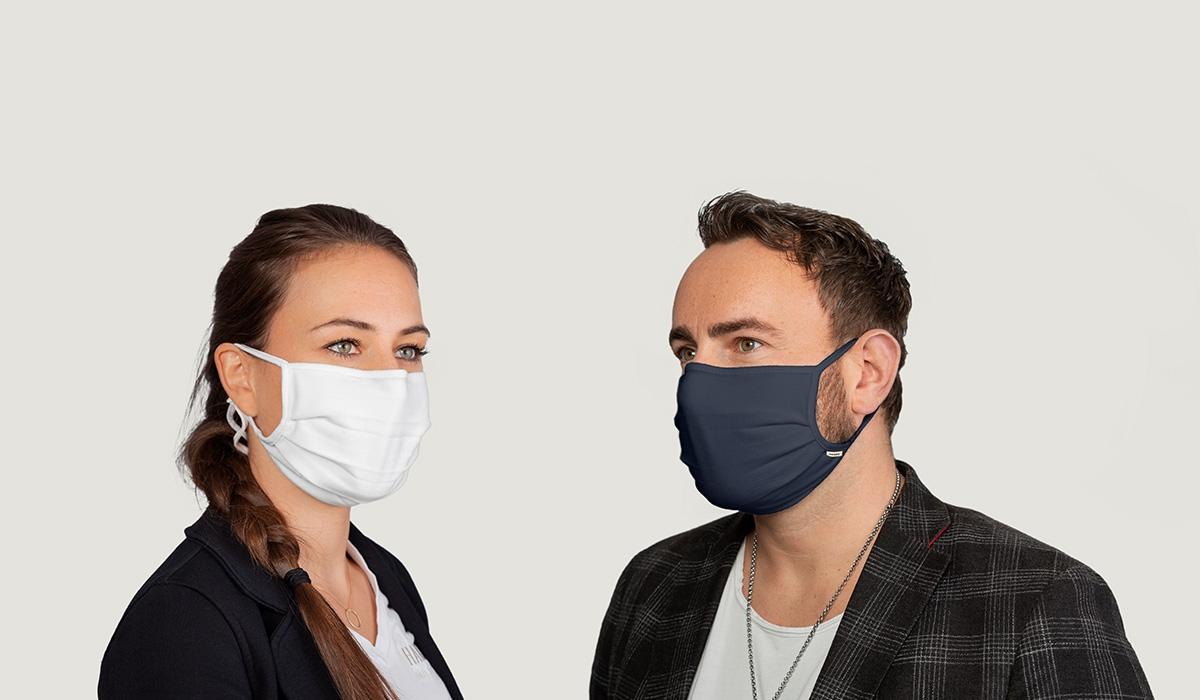 Hakro Mund-Nasen-Maske (wiederverwendbar) weiß