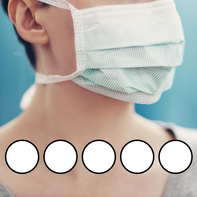LEIBER-Mund-Nasen-Maske (wiederverwendbar), Bindebänder, weiß