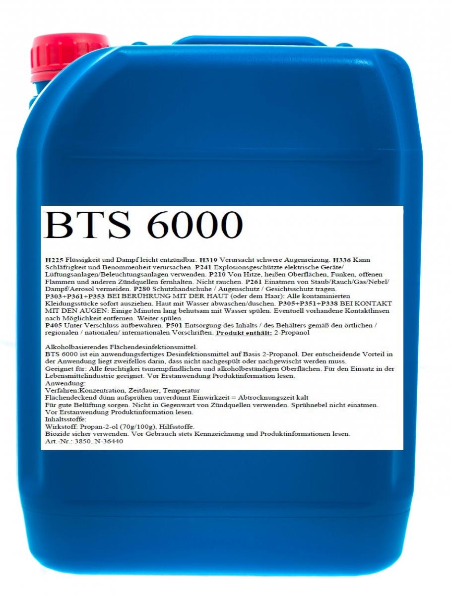 BIO-TEC-BTS 6000 Flächendesinfektion - Desinfektionsmittel, 10 l