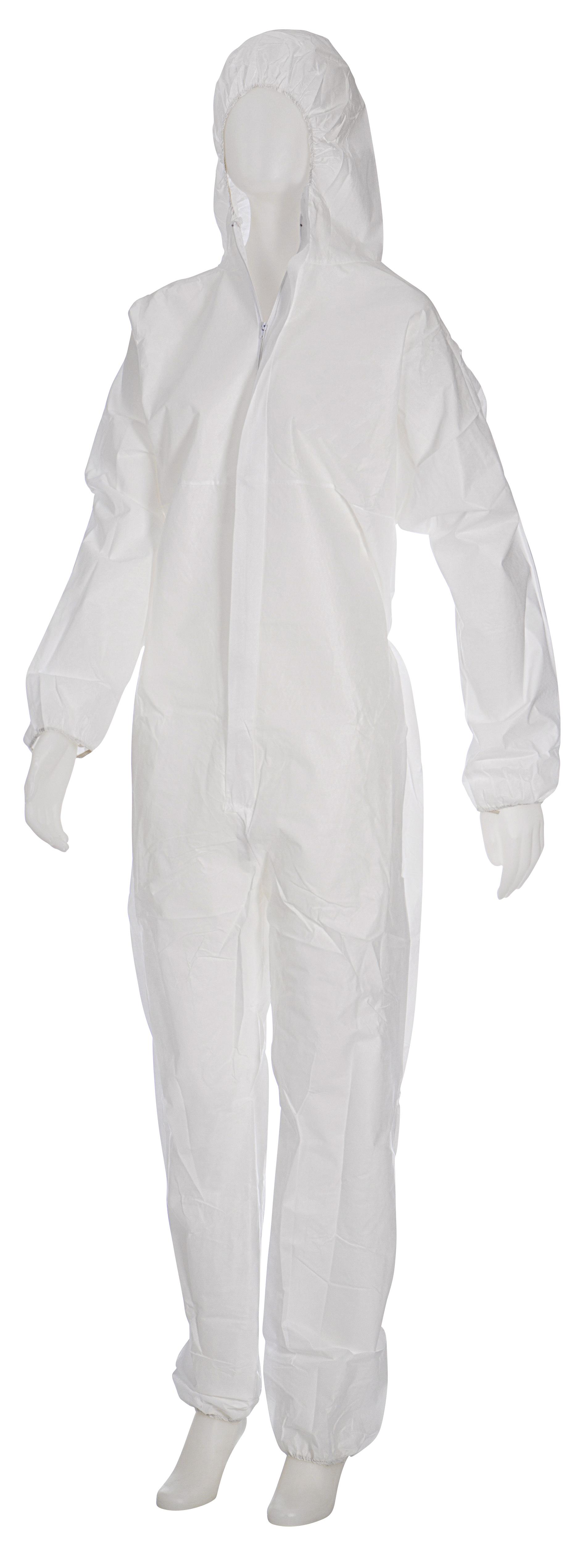 AMPRI Einweg Overall MED COMFORT Safe Protect 3 VE 1 Stück weiß