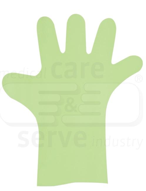UNIVERSAL PE-Einweg-Handschuhe G, lange Form, grün, Pkg. á 100 Stück